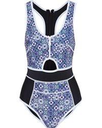 Duskii Maillot de bain sport - Bleu