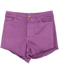 Souvenir Clubbing Denim Shorts - Purple