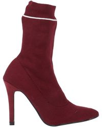 Sexy Woman Ankle Boots - Red