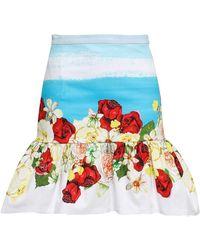 Isolda Midi Skirt - Blue