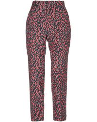 LaDoubleJ Casual Trousers - Red