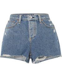 Rag & Bone Short en jean - Bleu