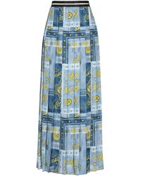 Versace Jeans Couture Long Skirt - Blue