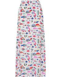 Emporio Armani Long Skirt - White