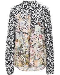 Black Coral Shirt - White