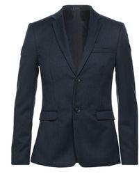 TOPMAN Suit Jacket - Blue