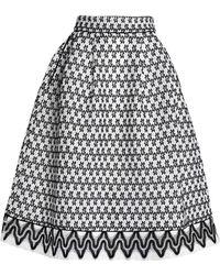 Maje 3/4 Length Skirt - White