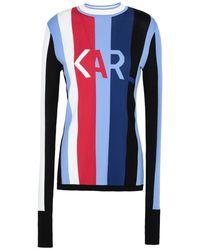 Karl Lagerfeld Karl Logo Knit Sweater - Blue