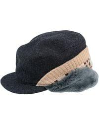 b189b4f3906 Comme des Garçons Striped Hat in Blue for Men - Lyst