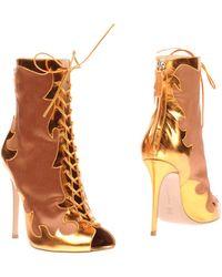 Gianvito Rossi Ankle Boots - Orange