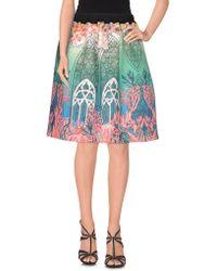 Piccione.piccione - Knee Length Skirt - Lyst