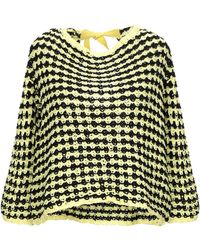 Blue Les Copains Sweater - Yellow