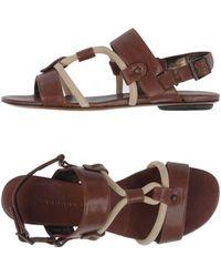 d8455a815 Lyst - Barbara Bui Thong Sandal in Metallic