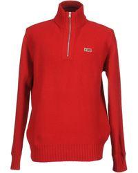 Napapijri Jersey de cuello alto - Rojo