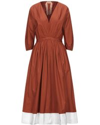 N°21 3/4 Length Dress - Brown