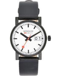 Mondaine Armbanduhr - Schwarz