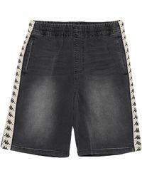 Kappa Denim Shorts - Black