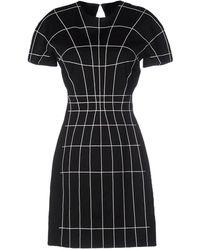 Mugler - Grid-print Crepe Dress - Lyst