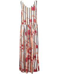 Manila Grace Long Dress - Red
