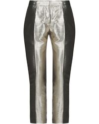 Femme By Michele Rossi Casual Trousers - Metallic