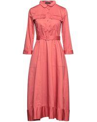 Le Mont St Michel Midi Dress - Pink