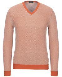 Zanone Sweater - Orange