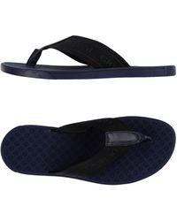 Giorgio Armani Toe Post Sandal - Black