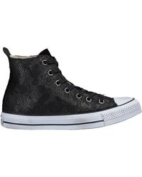 38cb47ed2ff8 Converse Embellished Flame Sneakers in Black - Lyst