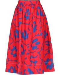Marni Printed Full Skirt - Red