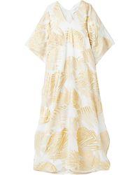 Marie France Van Damme Long Dress - White