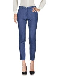 Si-jay Casual Trouser - Blue