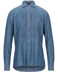 Tagliatore Denim Shirt - Blue