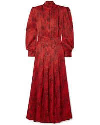 Alessandra Rich Langes Kleid - Rot