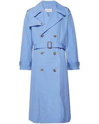 Maison Margiela Overcoat - Blue