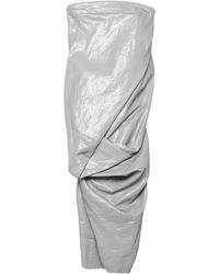 Rick Owens Robe mi-longue - Gris