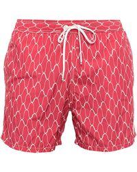 Marina Yachting Swim Trunks - Red