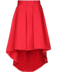 KATE BY LALTRAMODA Knee Length Skirt - Red