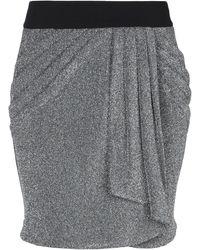 Soallure Mini Skirt - Metallic