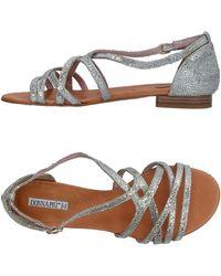 Donna Più Sandals - Metallic