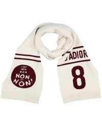 Dior Oblong Scarf - White