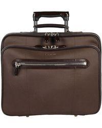 Santoni Wheeled luggage - Brown