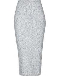 Victoria Beckham 3/4 Length Skirt - Gray