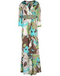 Clips 3/4 Length Dress - Green