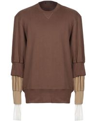 Ann Demeulemeester Sweatshirt - Brown