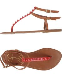 Jessica Simpson Toe Strap Sandal - Red