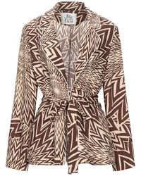 Attic And Barn Suit Jacket - Brown