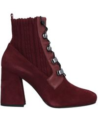 Lella Baldi Ankle Boots - Red