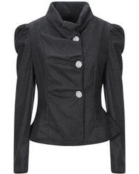 Satine Label Suit Jacket - Grey