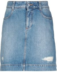 Stella McCartney Denim Skirt - Blue