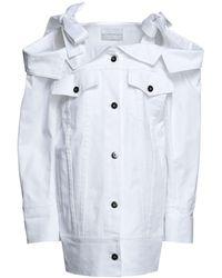 Matthew Adams Dolan Denim Outerwear - White